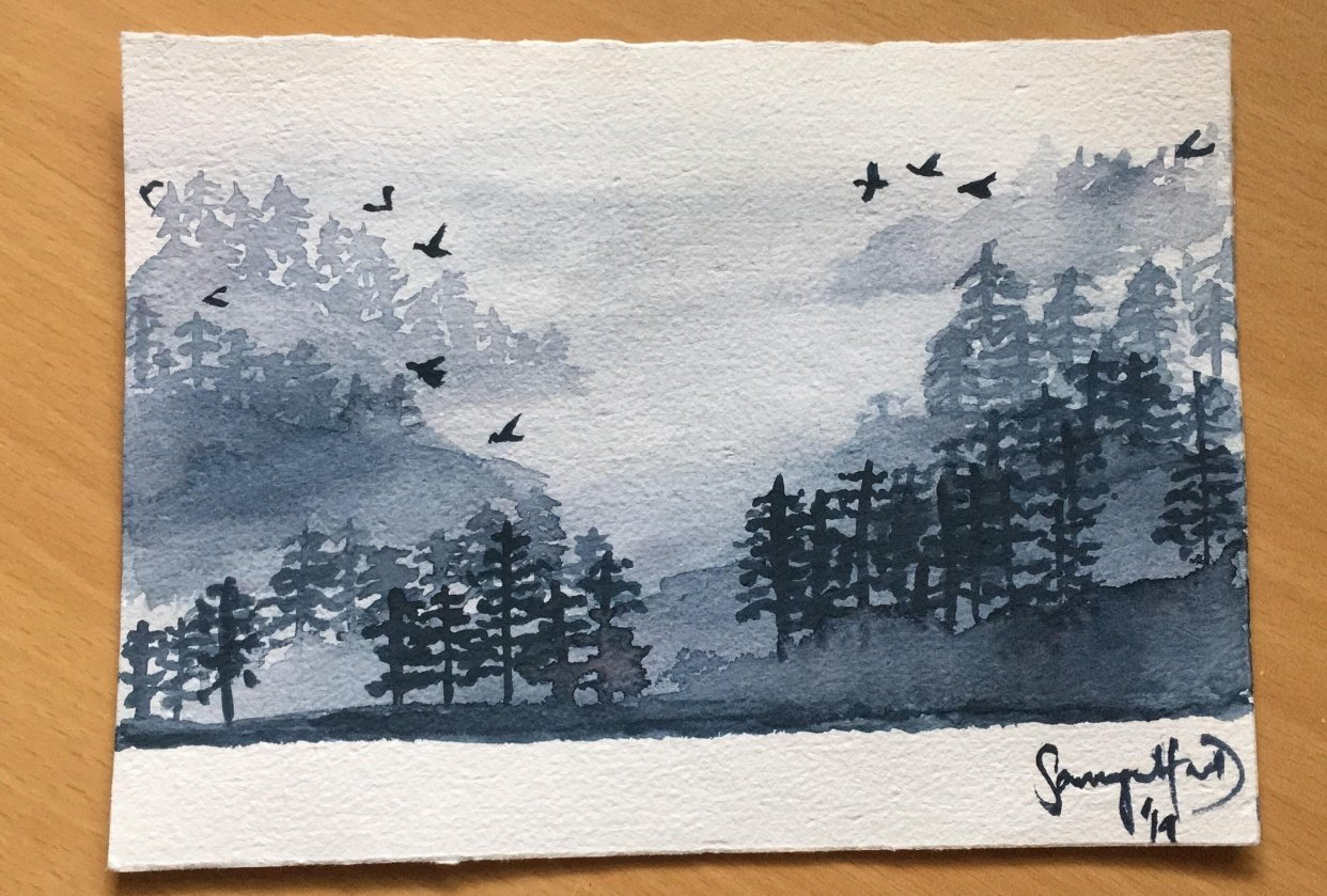 My version of misty pines - student project