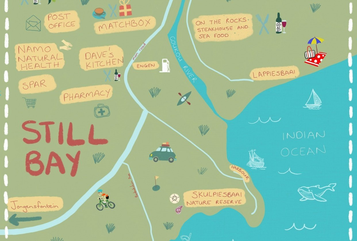 Map of Still Bay - student project