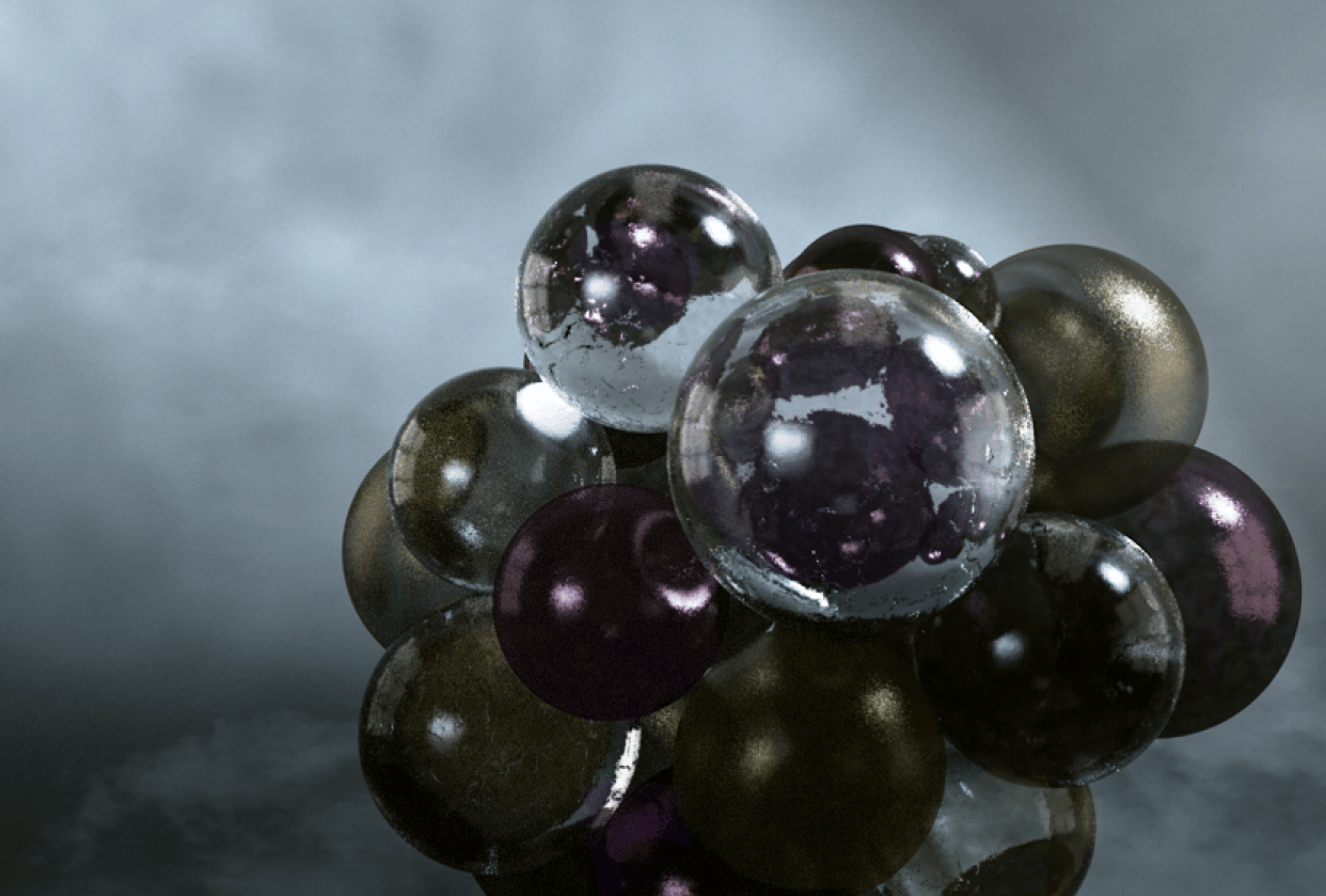 Spheres in C4D - student project