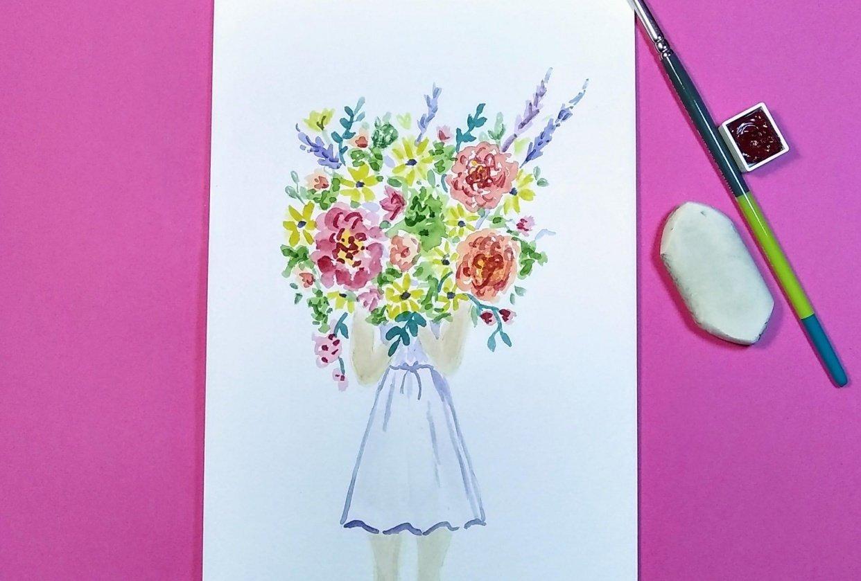 Summer flower girl - student project