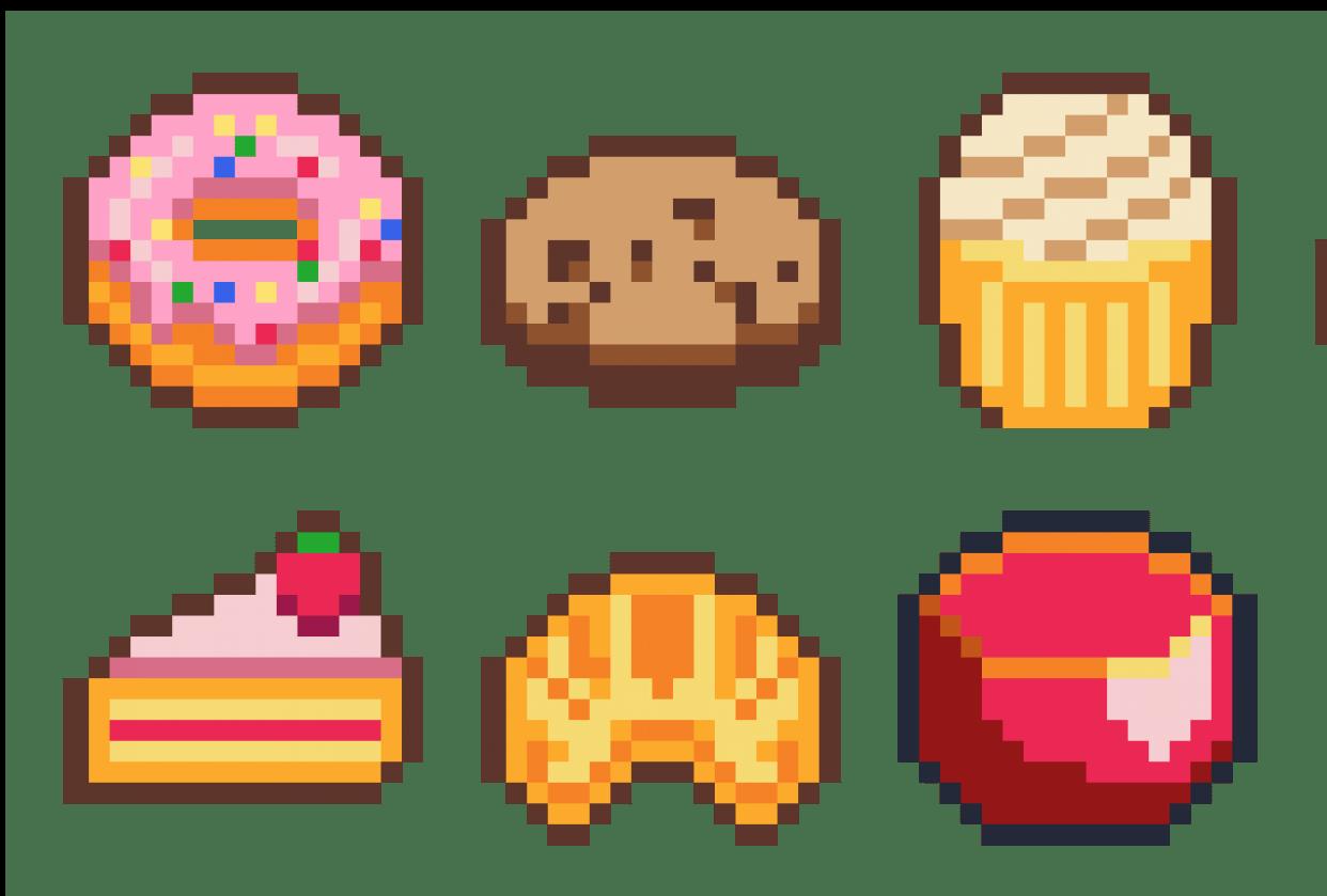Bakery item set - student project