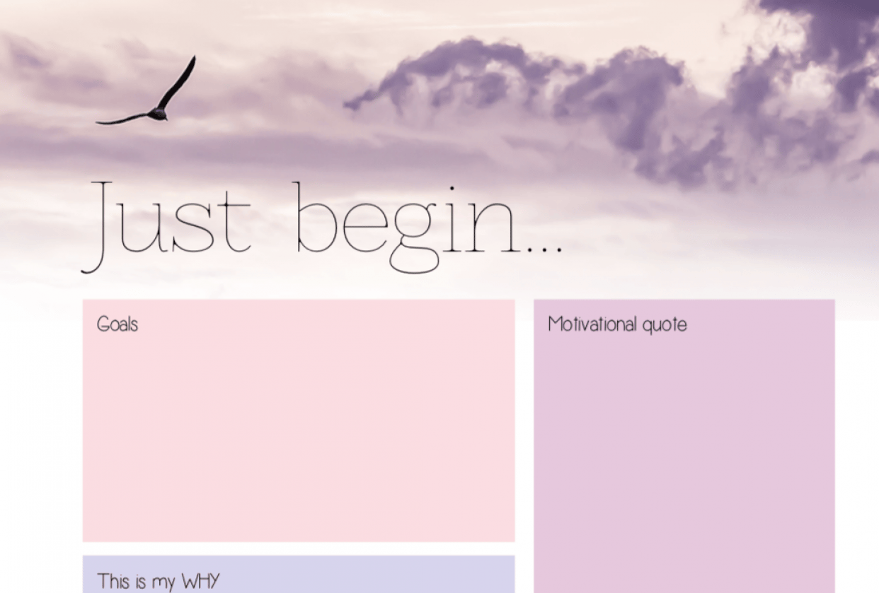 Just begin... - student project