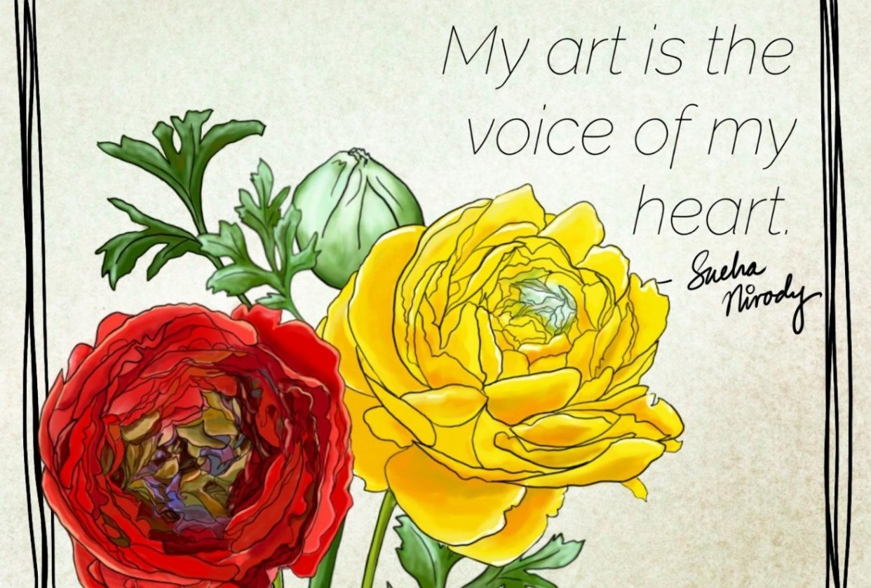 My art is the voice of my heart - student project