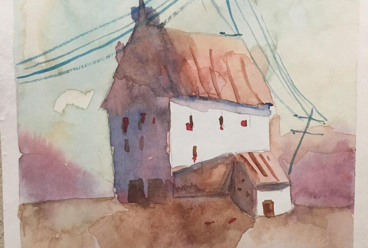 watercolor consultano tutorial - student project