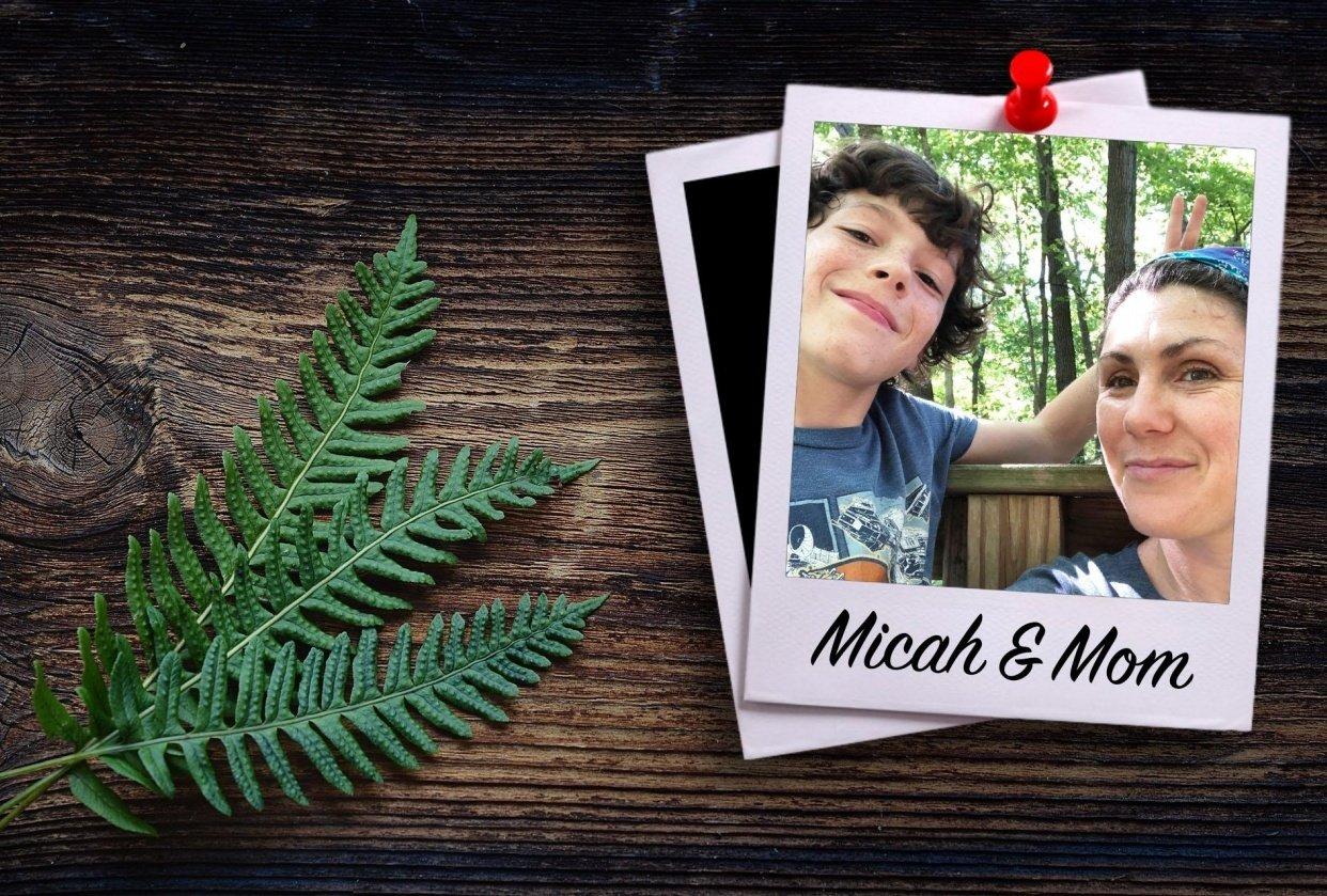Micah & Mom Polaroid - student project