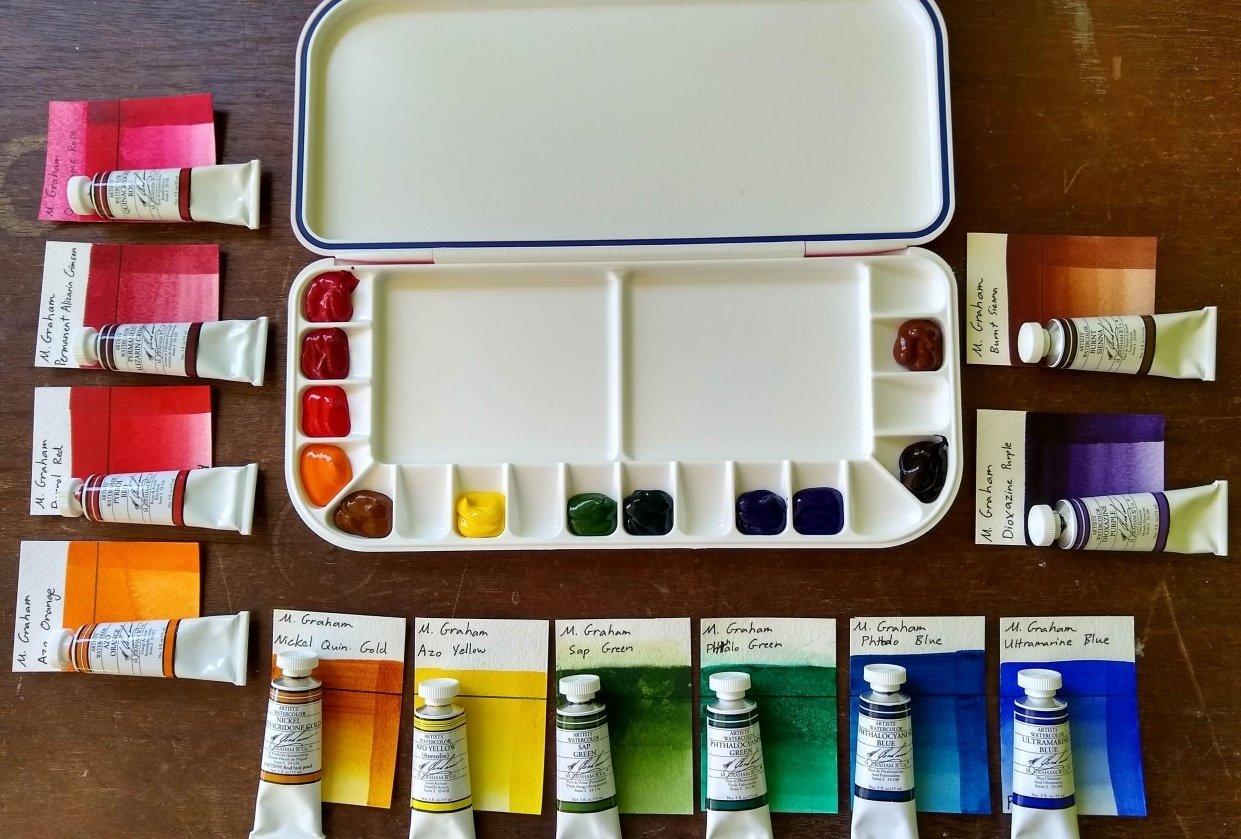 M.Graham Watercolor Palette - student project