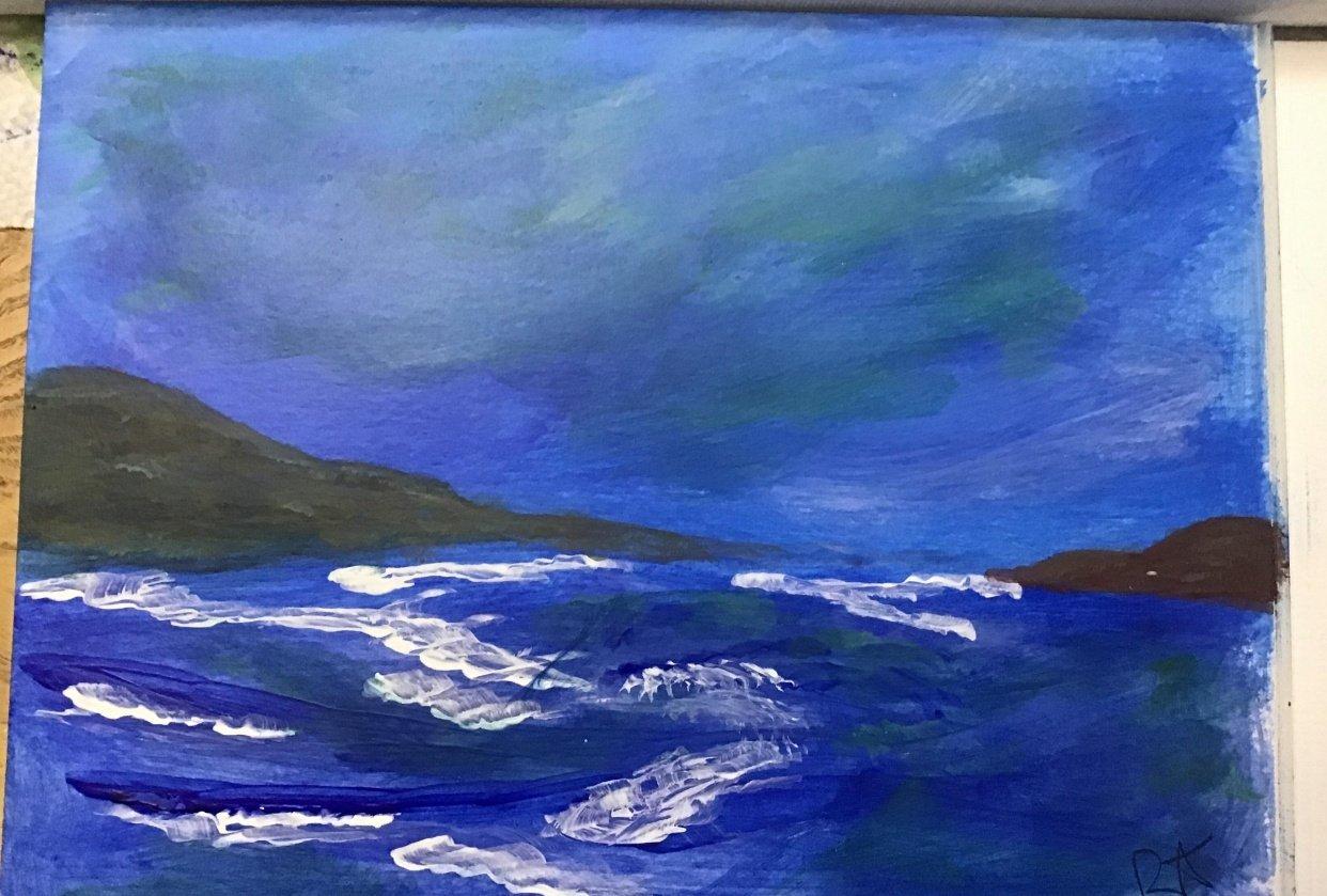 Acrylic Ocean - student project