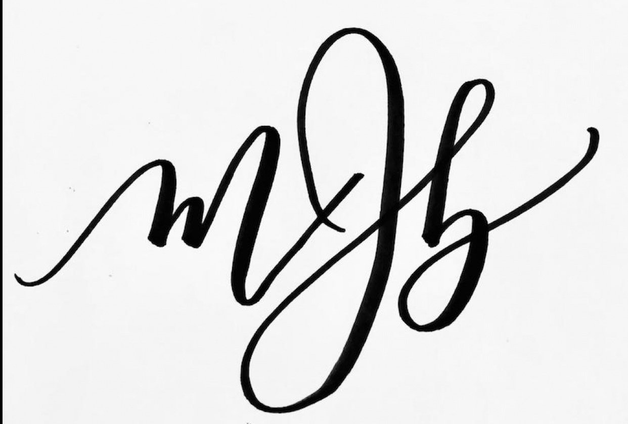 Meriwether Johnson Calligraphy - student project