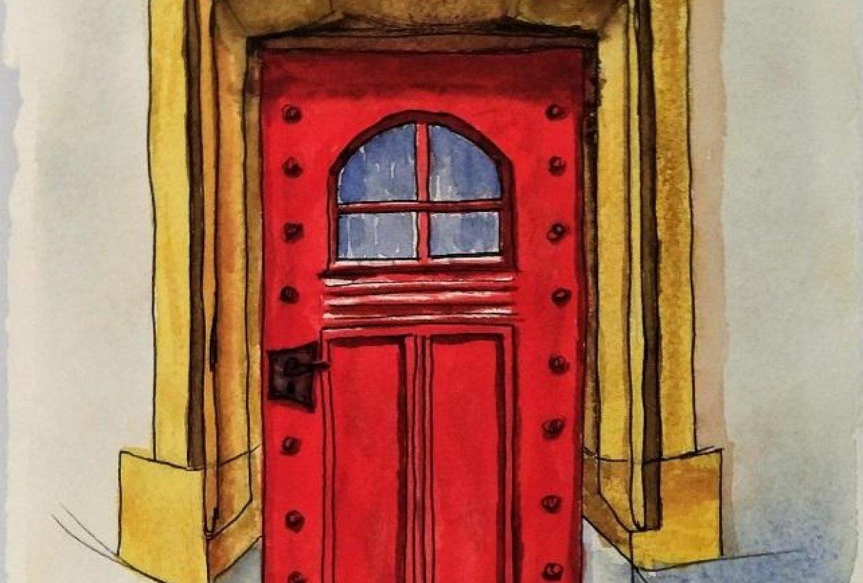 Urban Sketching - Door - 20190425 - student project