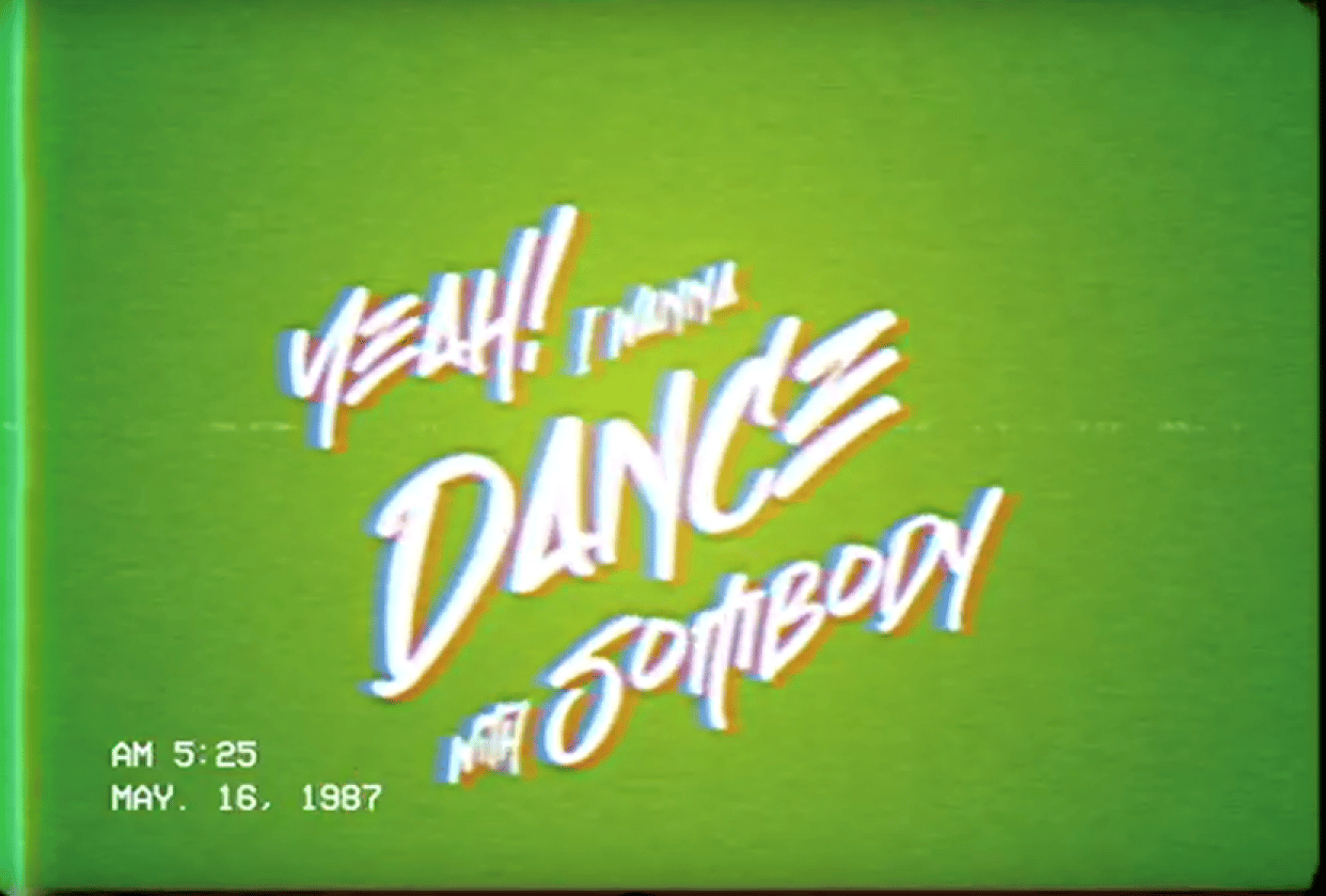 Kinetic Type Project With VHS Effect - student project