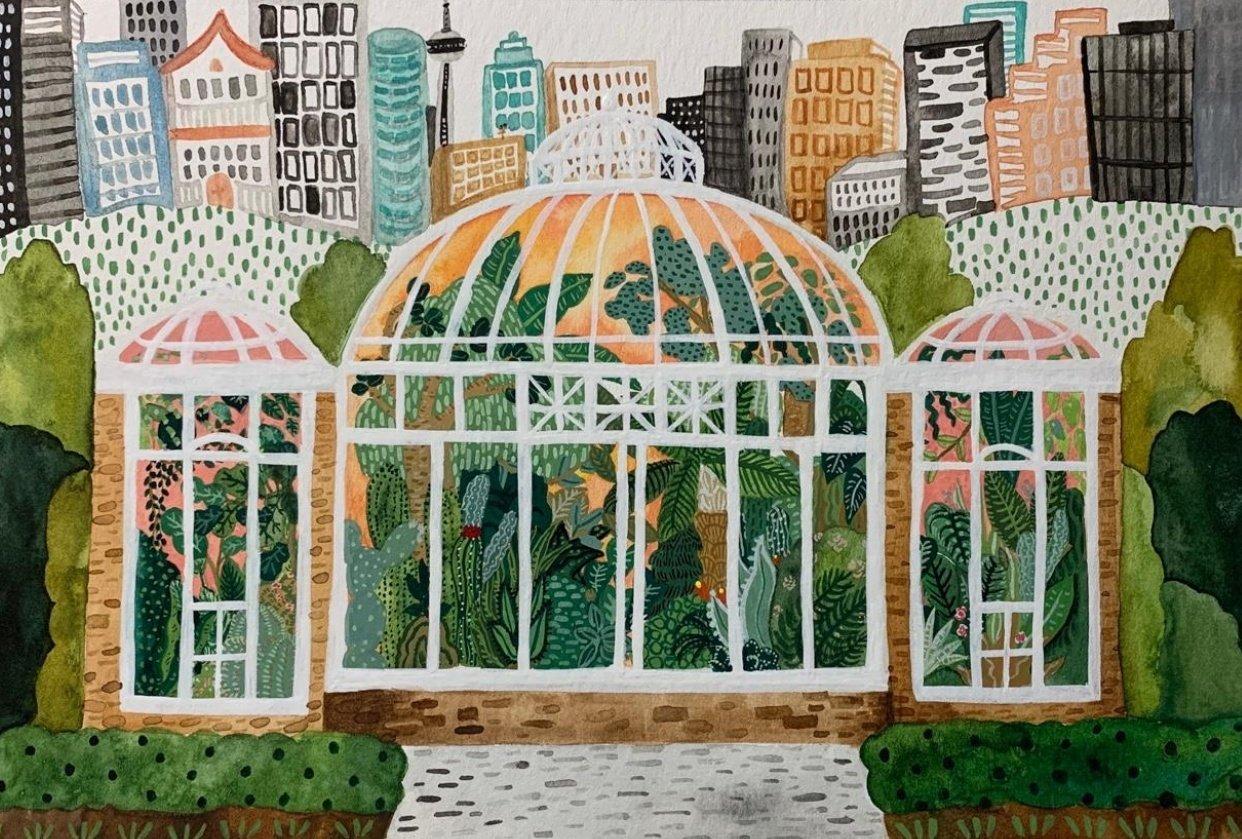 Allen Gardens Conservatory, Toronto Canada - student project