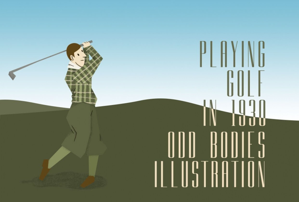 Playing golf in 1930 - student project
