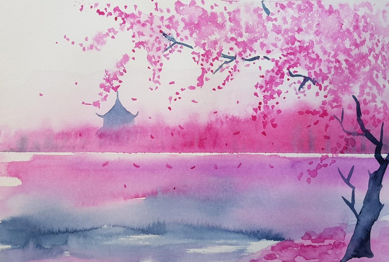 Dreamy Spring Landscape - student project