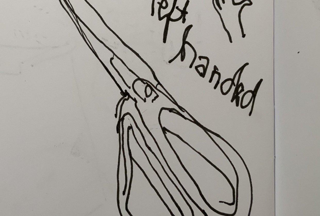 leftie scissors - student project