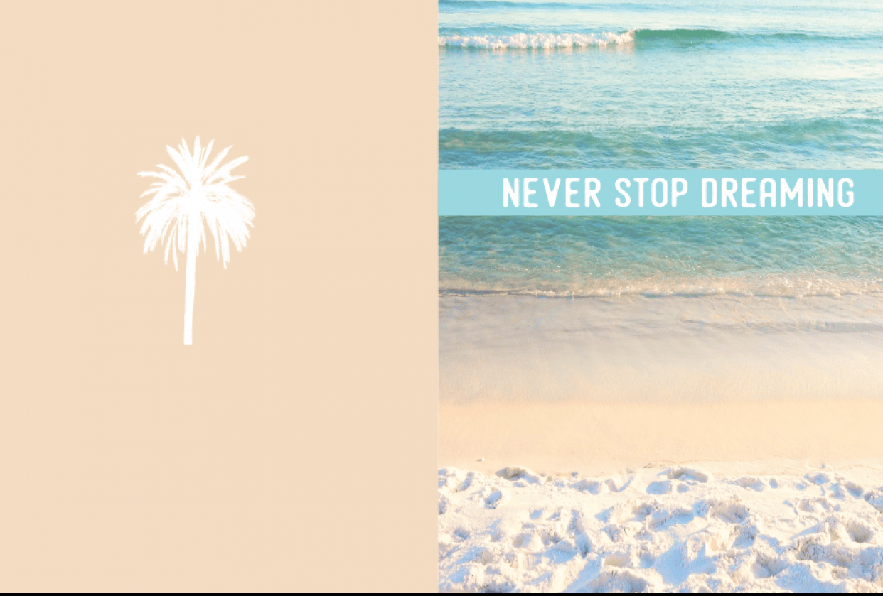 Never Stop Dreaming Notebook - student project