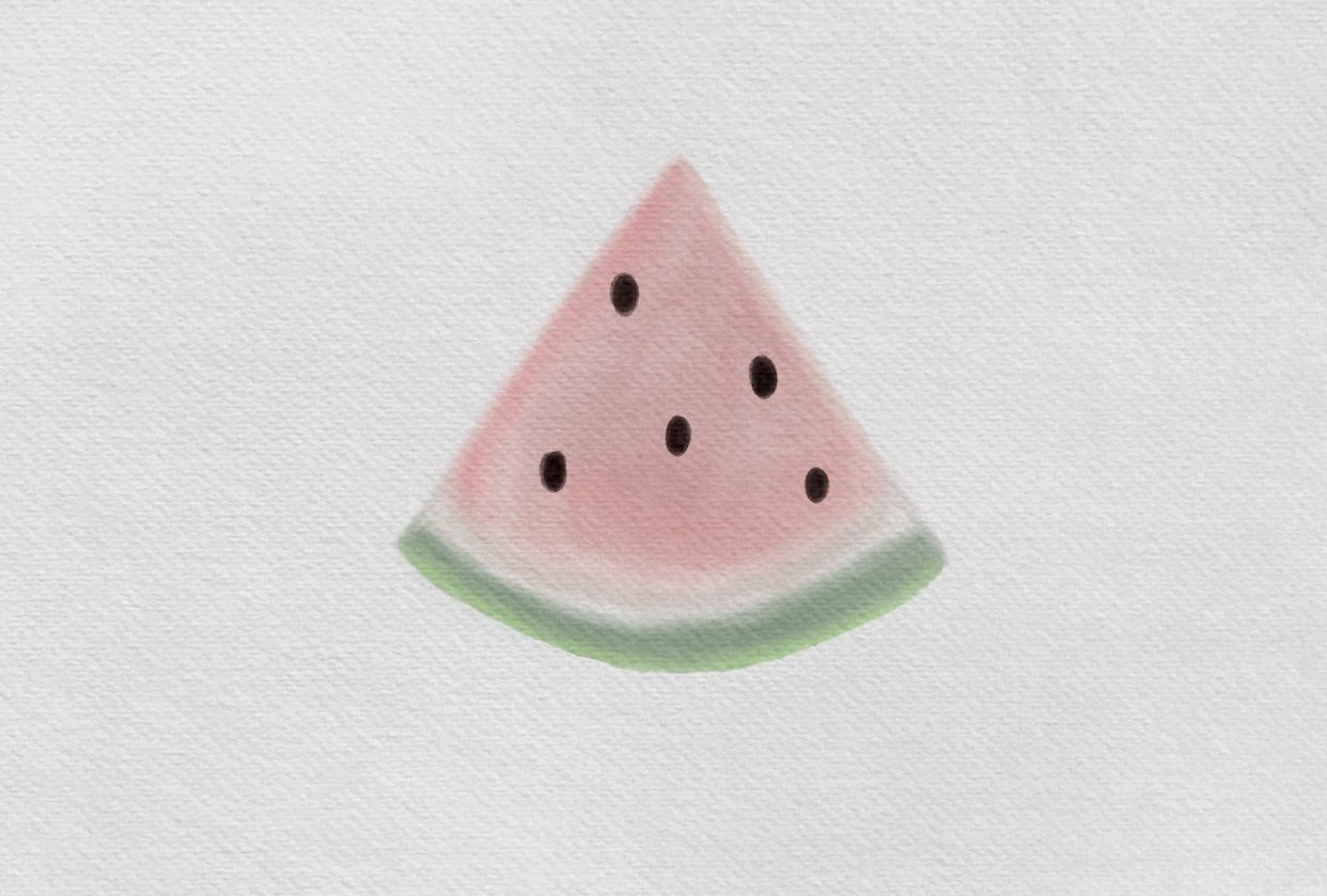 Watercolor Watermelon - student project