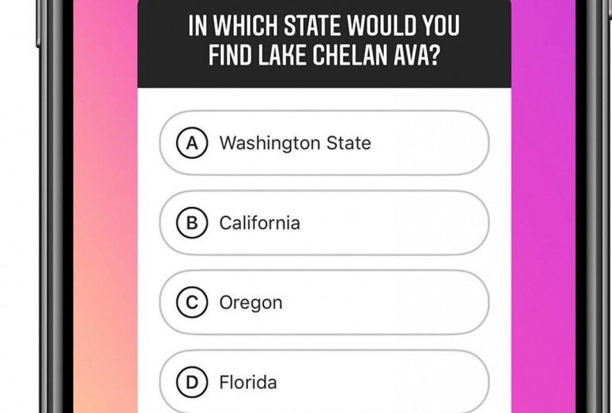 Instagram Stories Quiz - student project