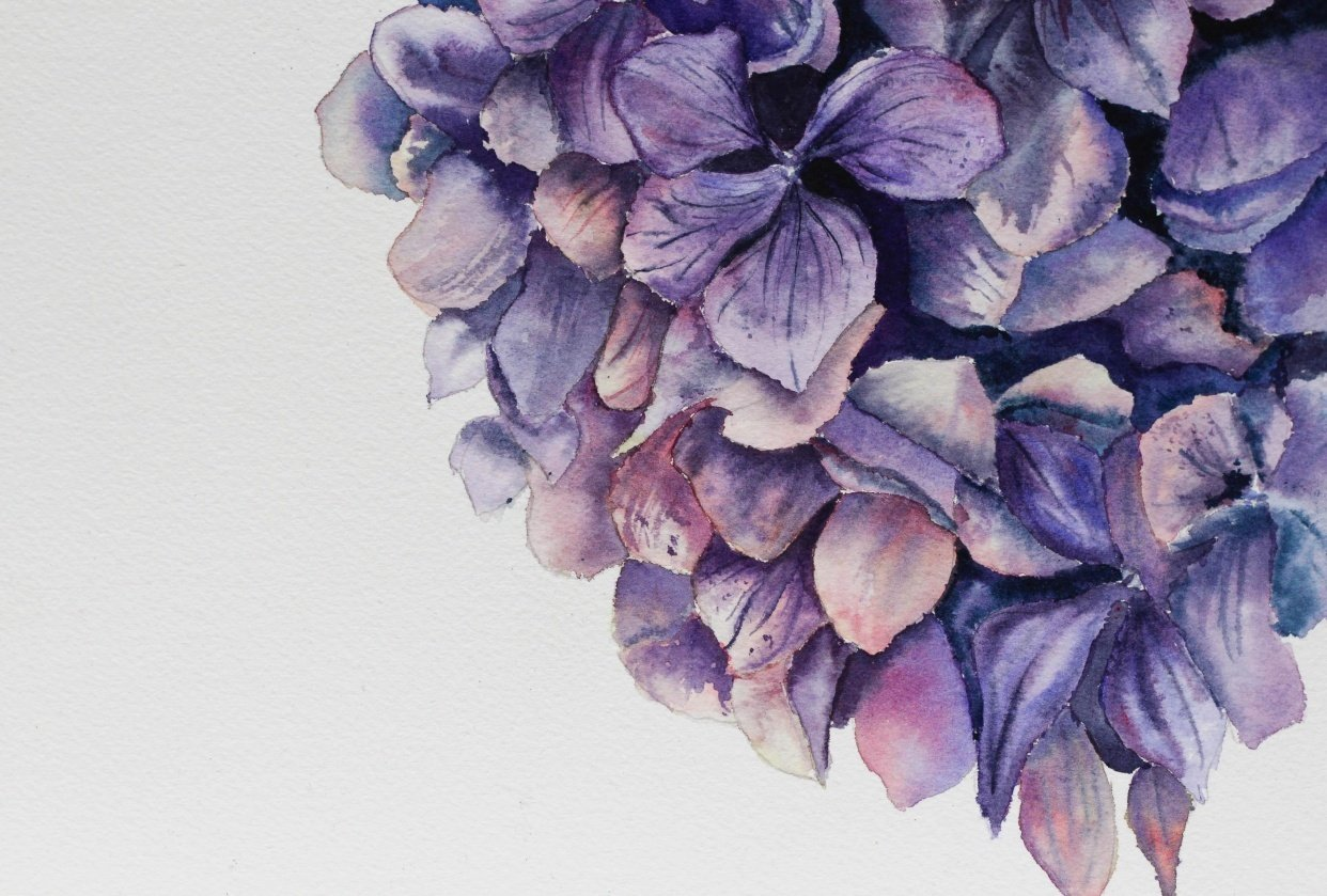 Finished Hydrangea - student project