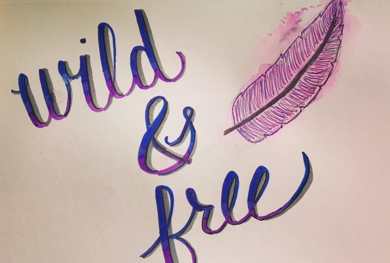 Crayola Handlettering & Watercolor - student project