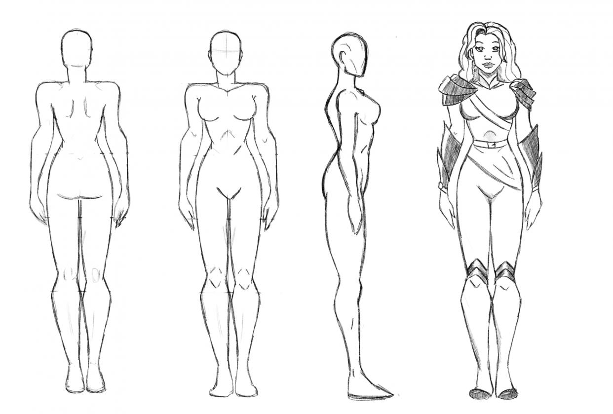 Female Superhero Design - student project