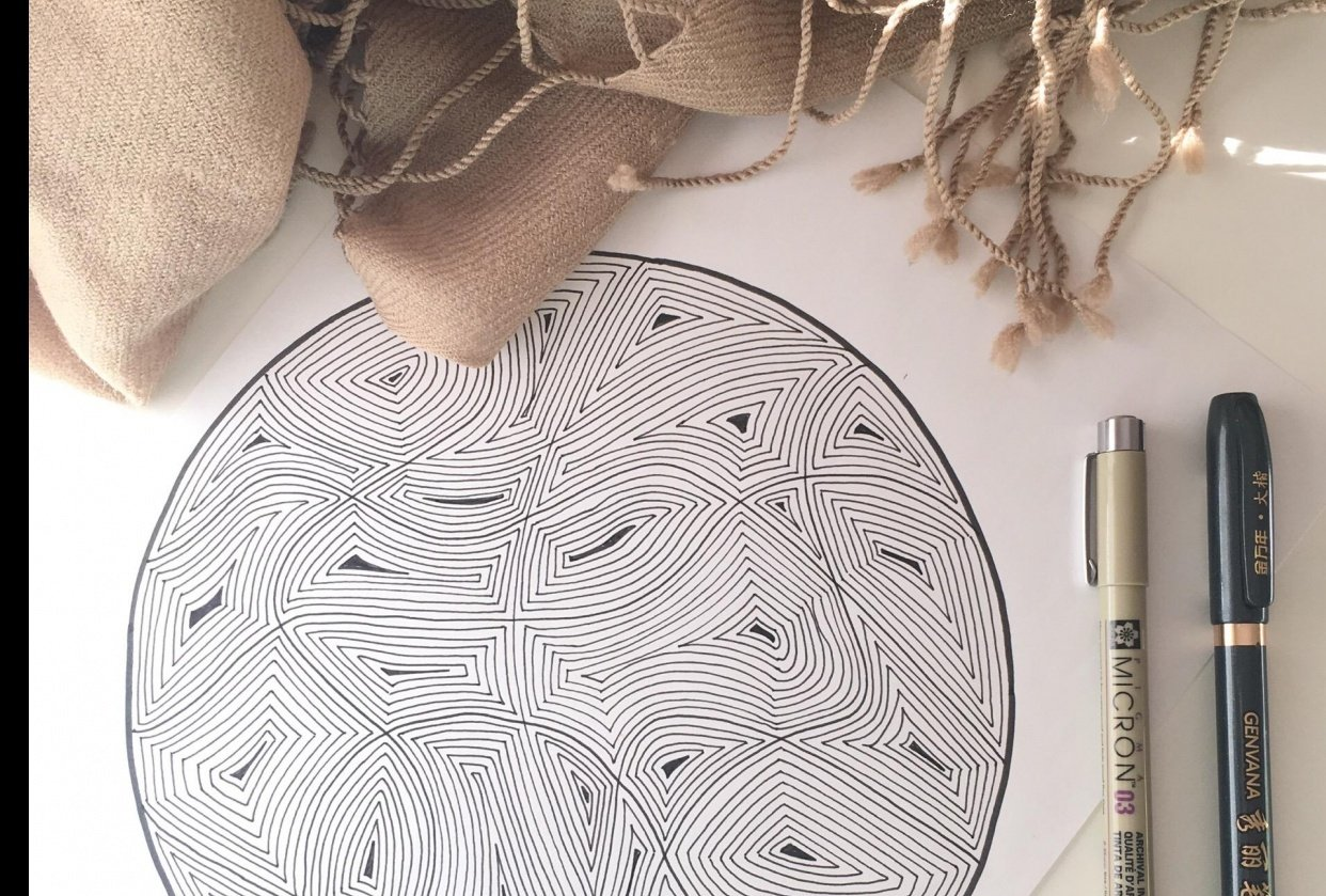 Practice drawing in circles - student project