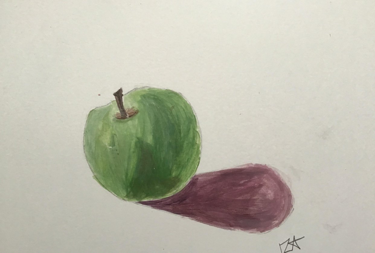 Acrylic Green Apple - student project