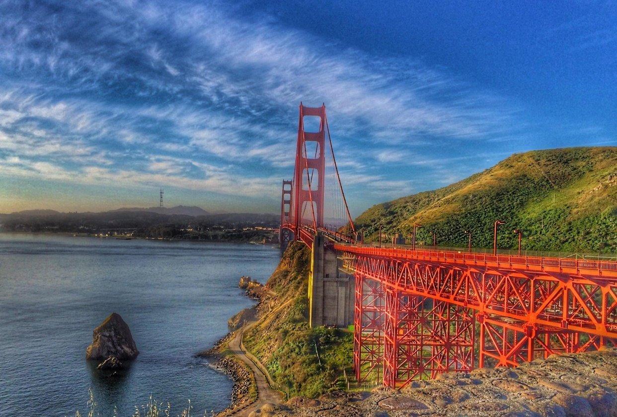 Golden State Bridge, San Francisco CA - student project