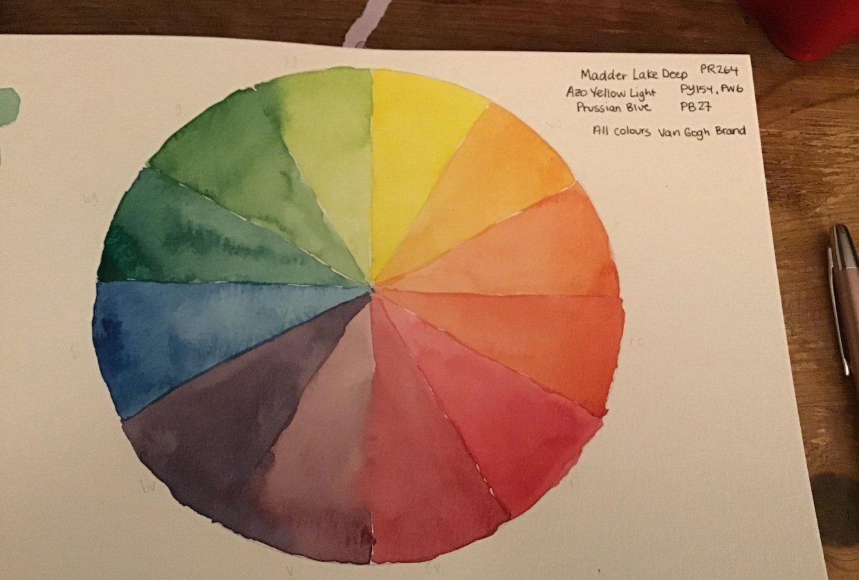 12 Colour Wheel - student project