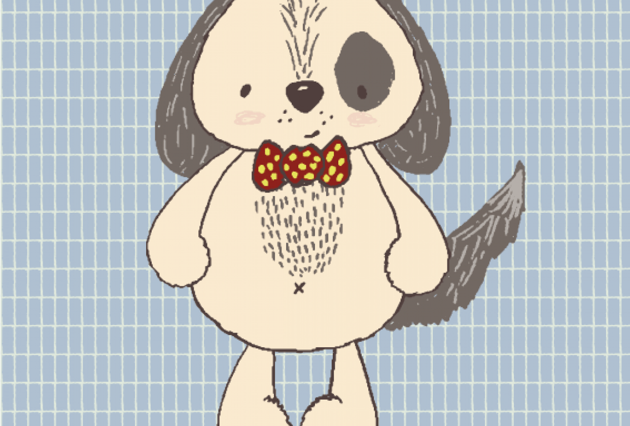 Hand drawn vector dog. - student project