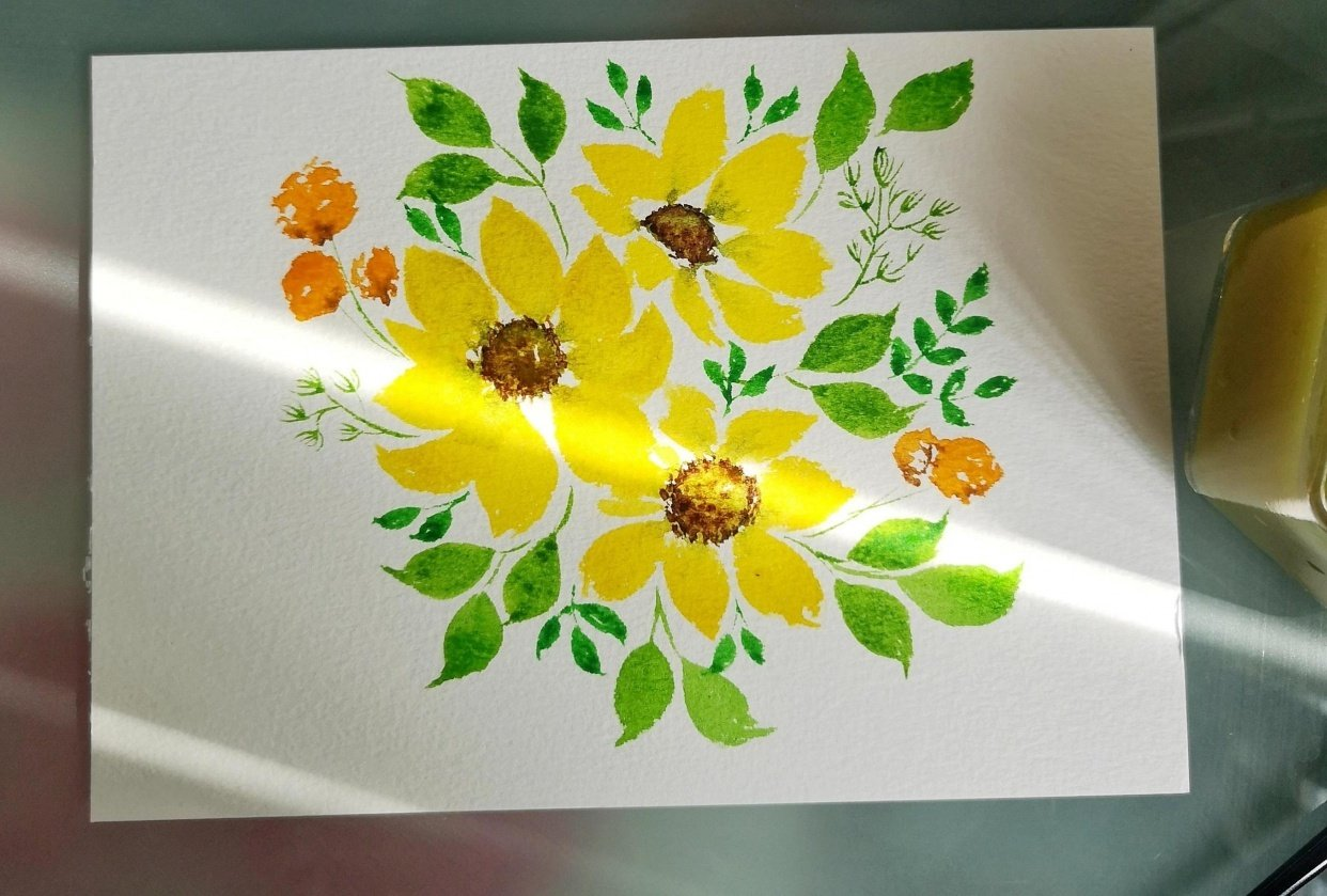 Filler Florals and Leaves - student project