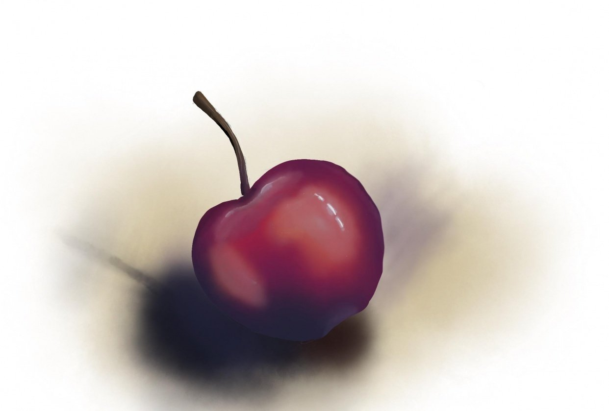 Cherry - first try with Procreate - student project