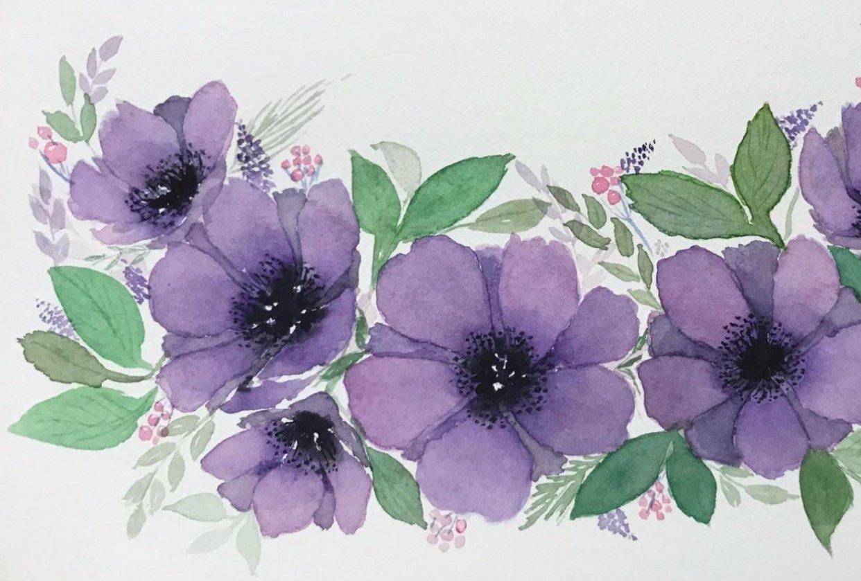 Violet Anemones - student project