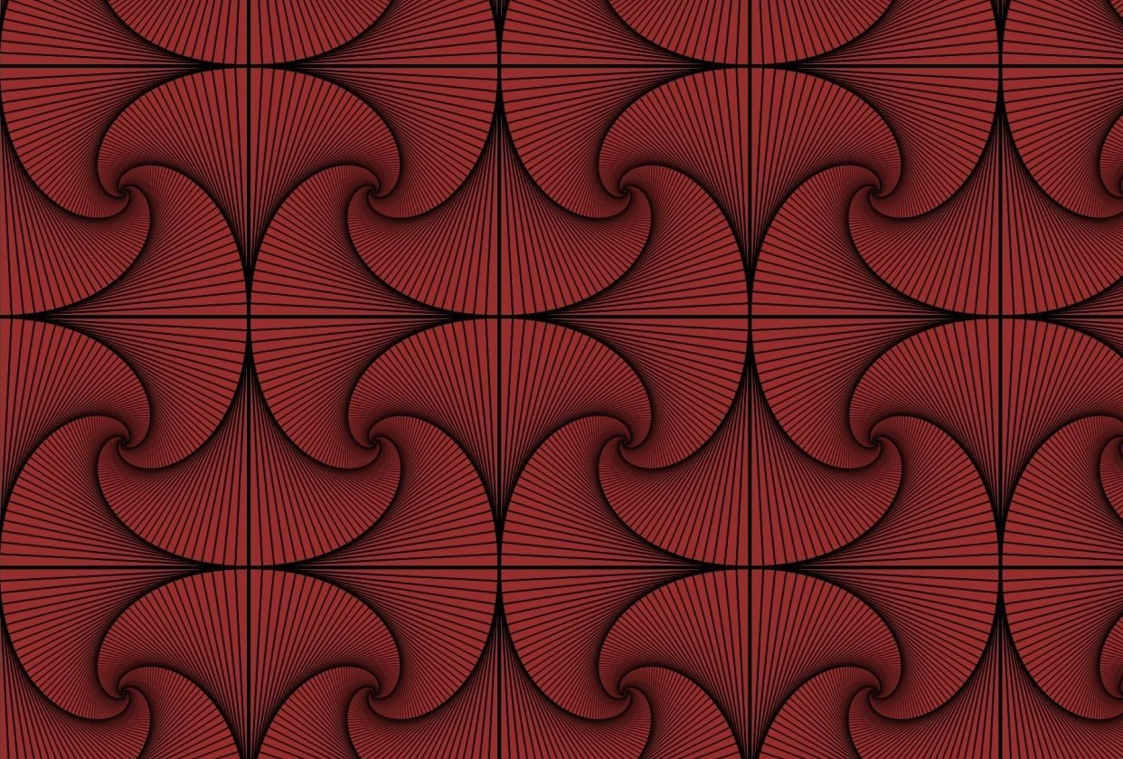 Maroon Rotational Design - student project