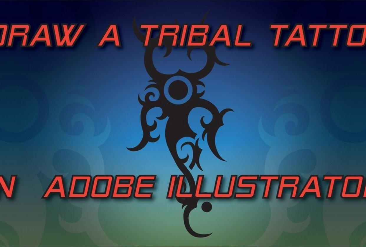 Draw a Dyak Tattoo in Illustrator - student project