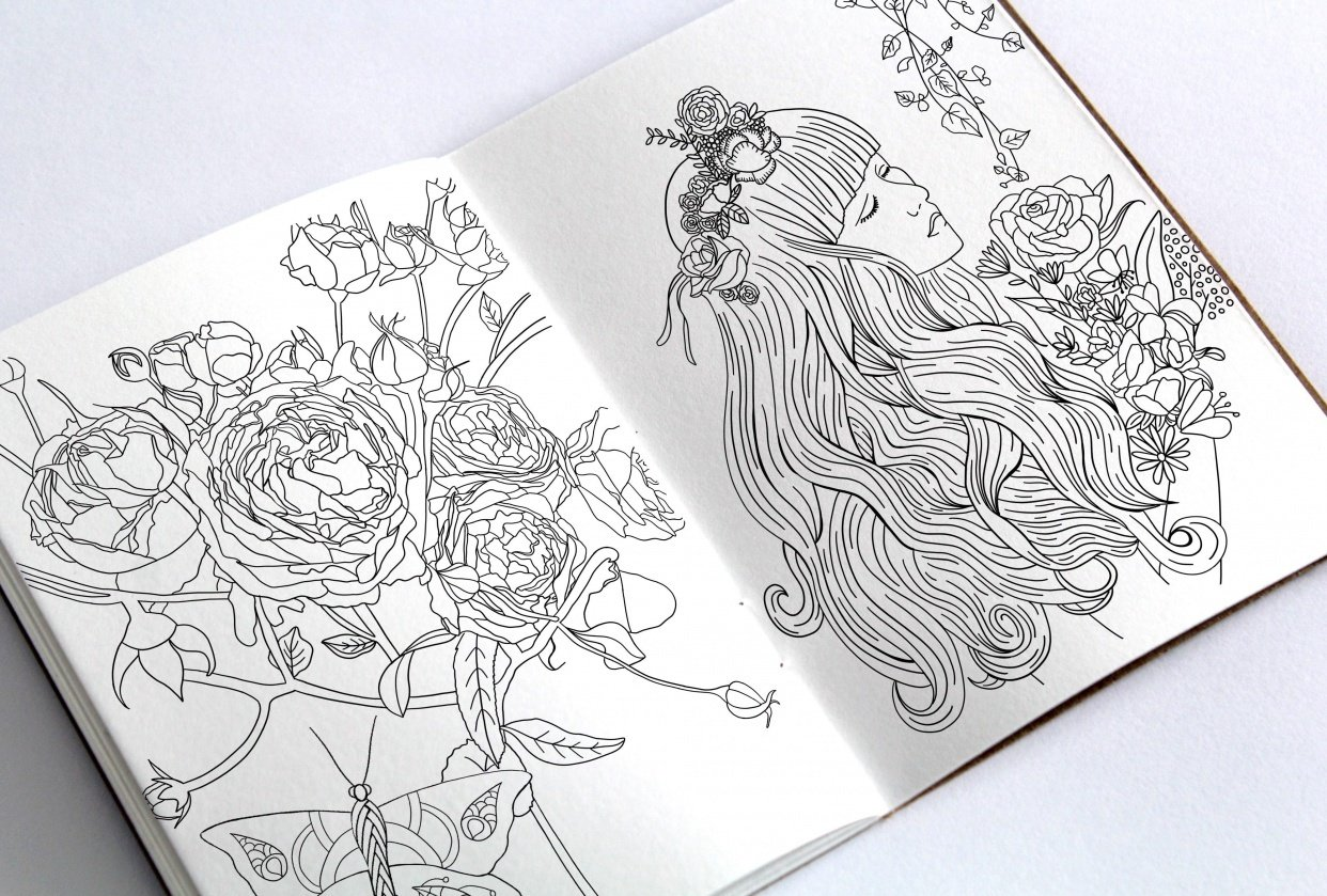 Botanical Coloring Book - student project