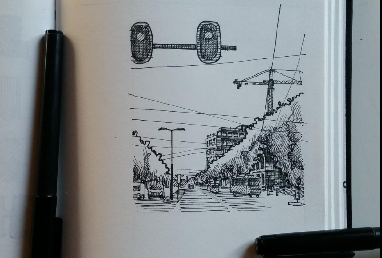 Urban sketch - student project