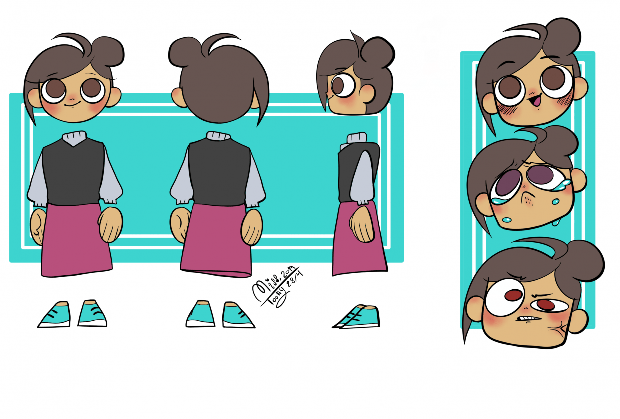 Persona reference sheet - student project