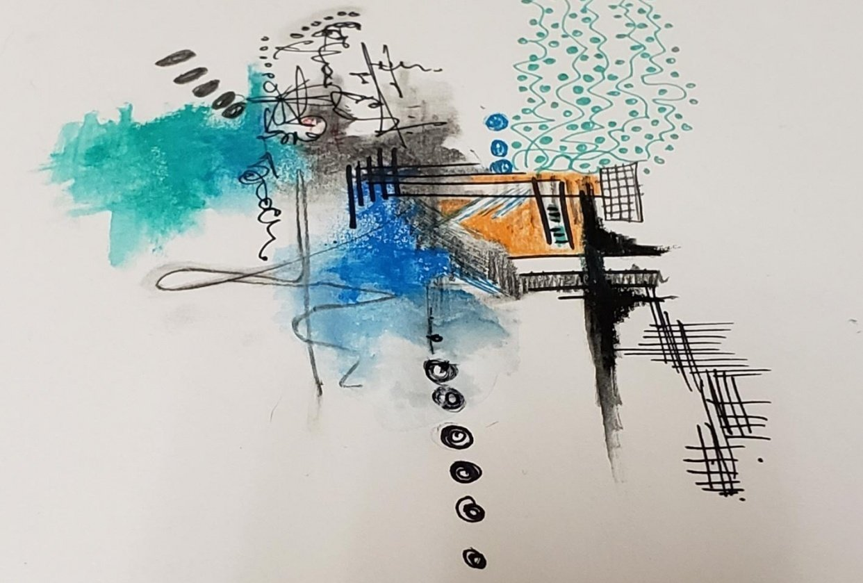 1st one stabilo,black and lead, sharpie, woodysstabilo, pencil,pen,pencil crayon - student project