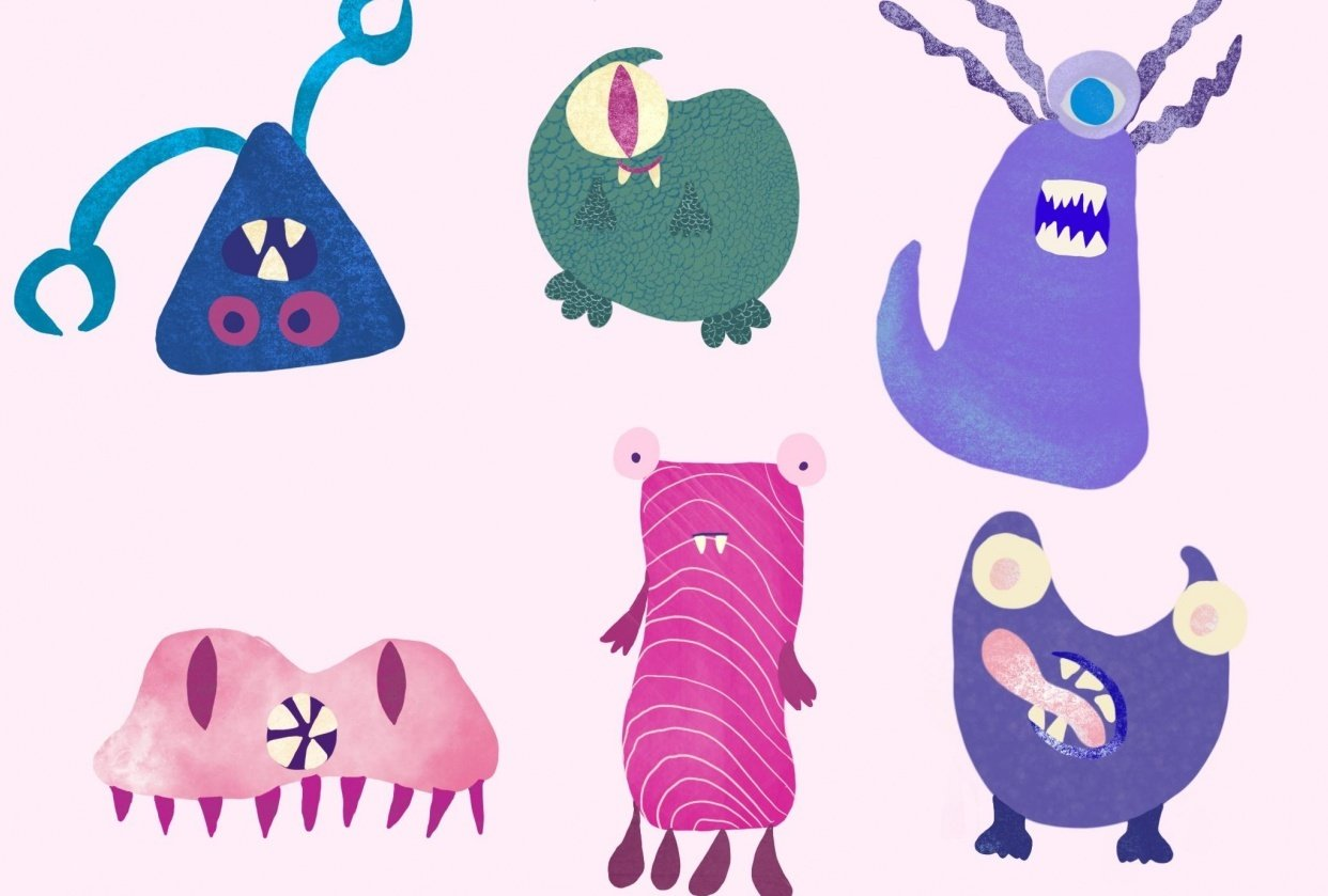 Monsters in procreate - student project