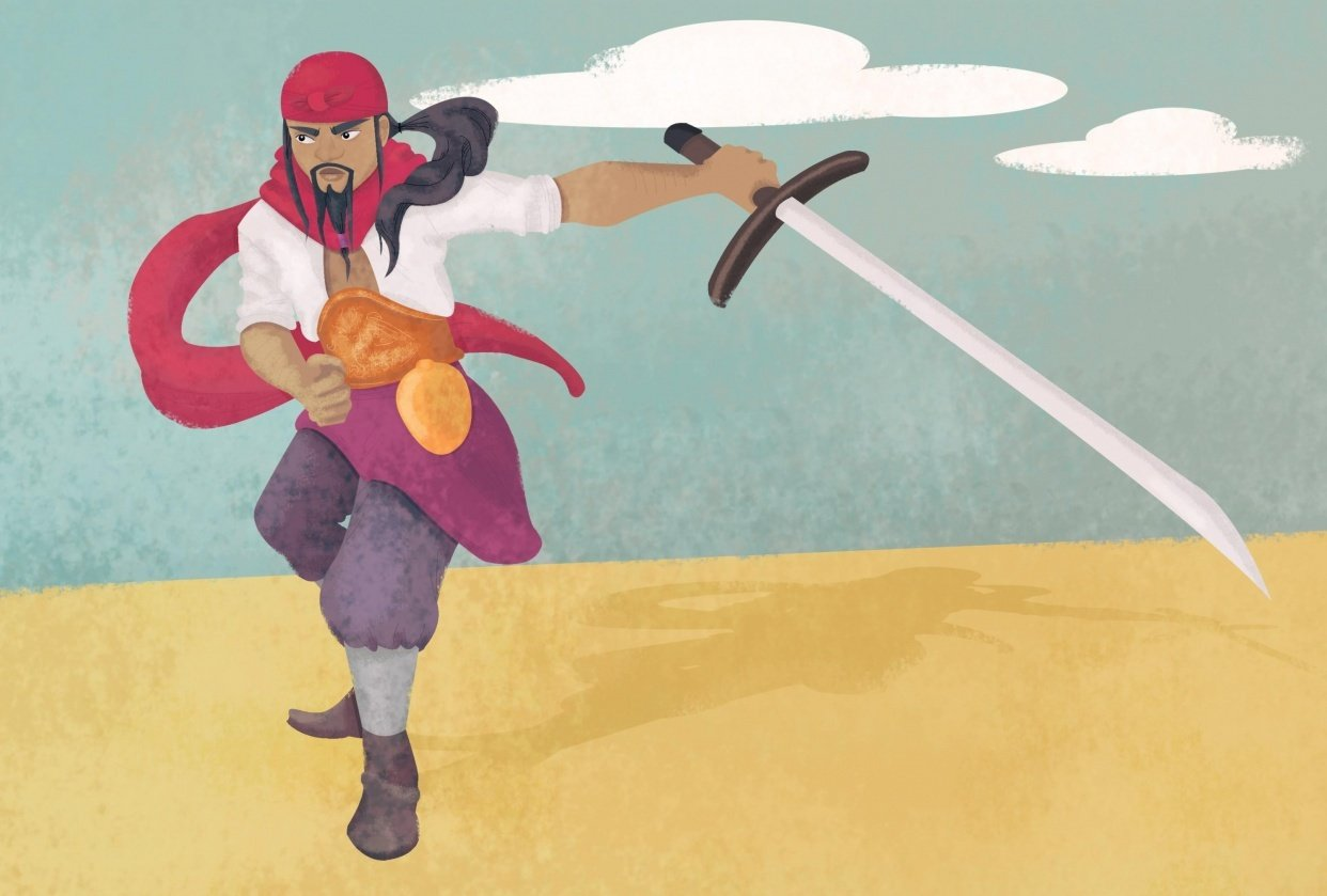 Pirate Character Illustration - student project