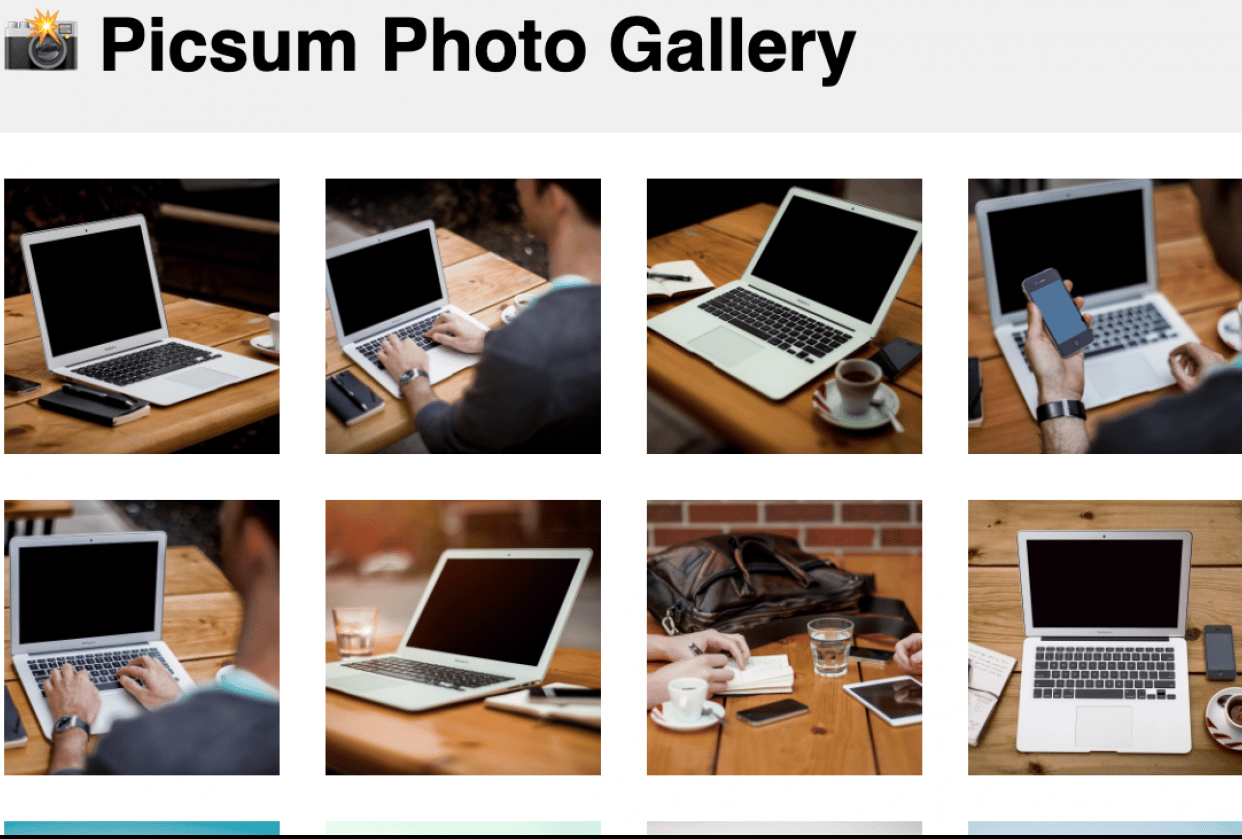 Intro to ReactJS Course Project: Building a Photo Gallery - student project