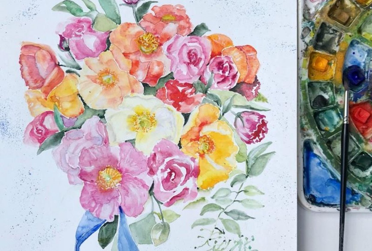 Florals in a Wedding Bouquet - student project
