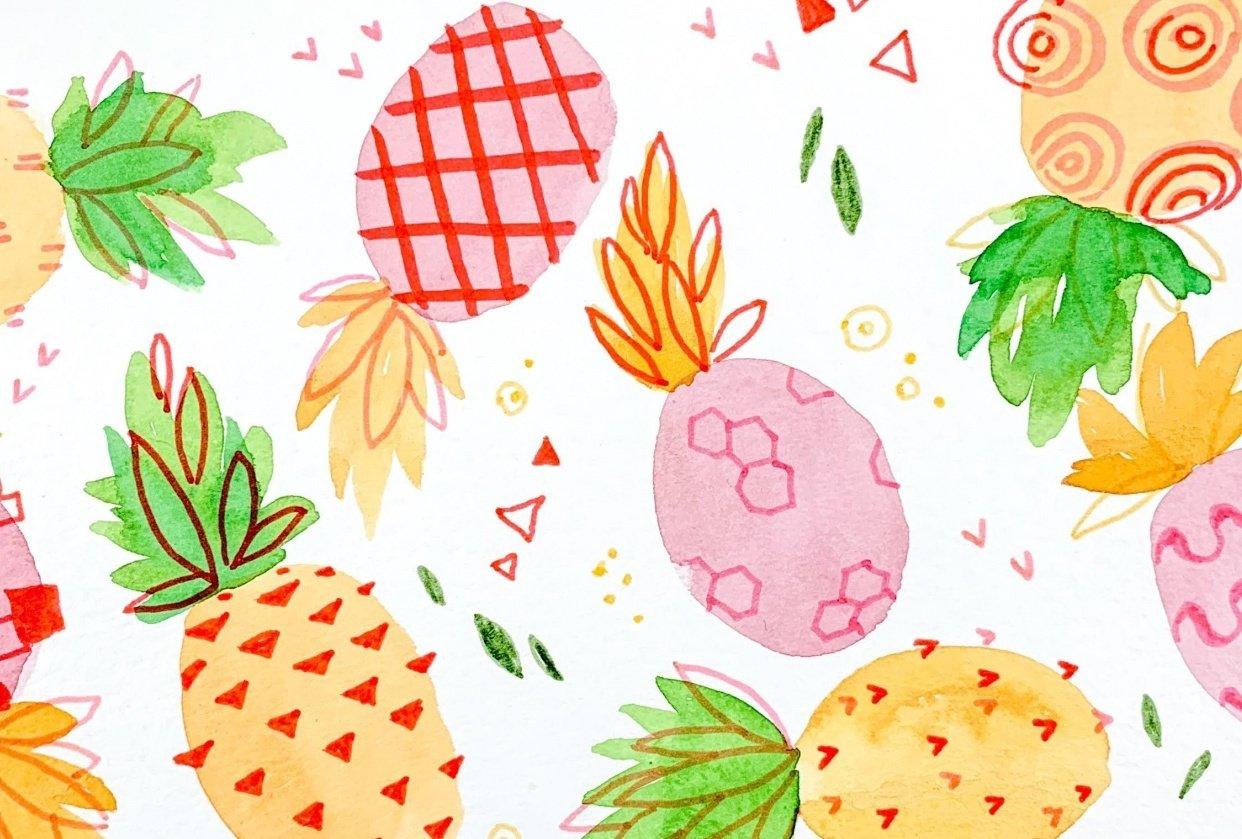 Pineapple Studies 4 Ways - student project
