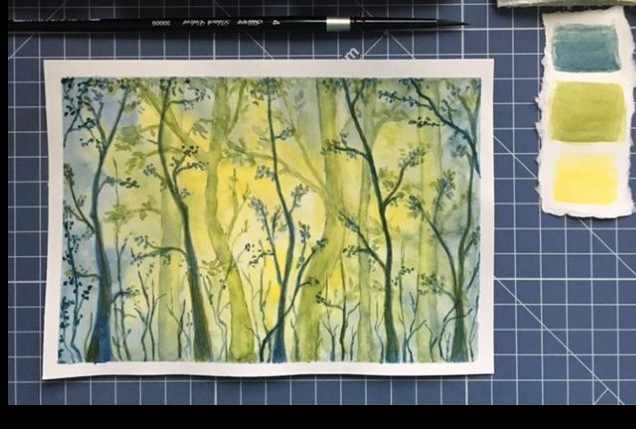 Watercolor Forest - student project