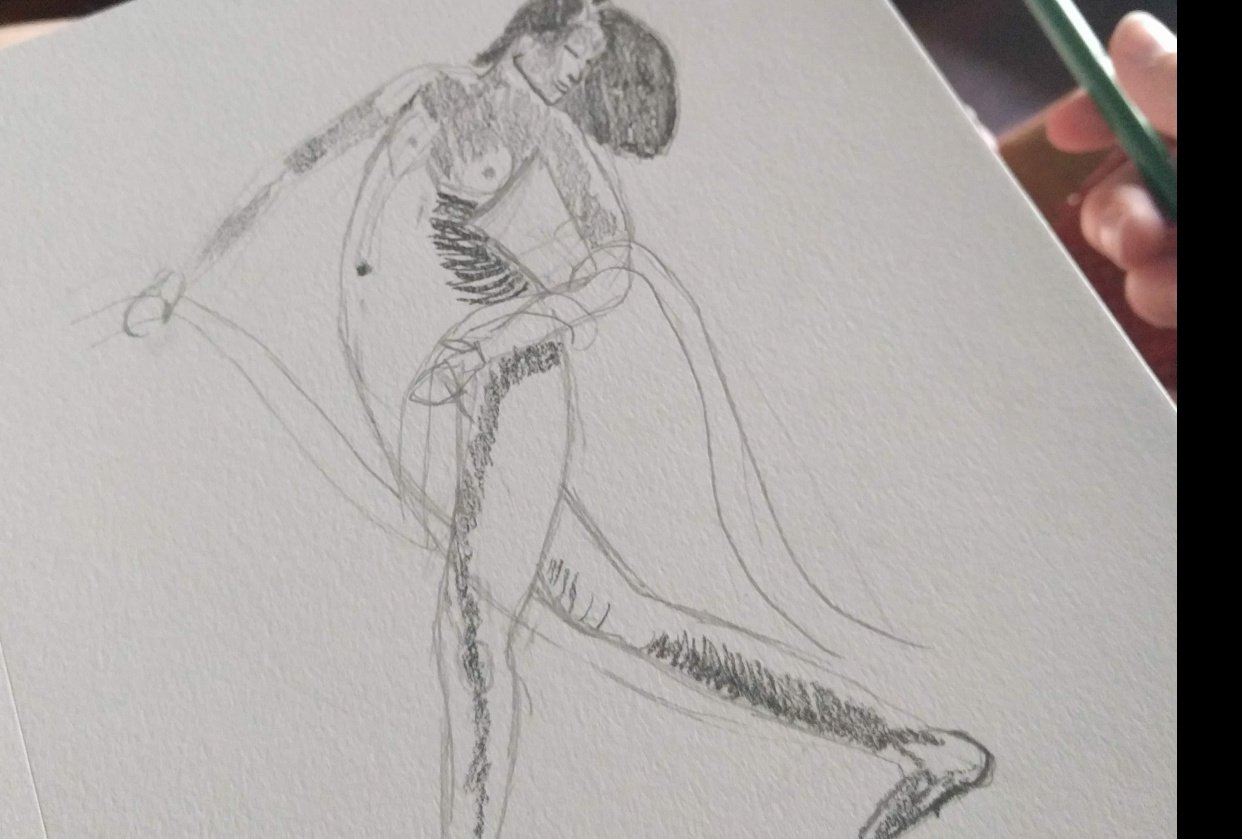 My first attempt at figure drawing. - student project