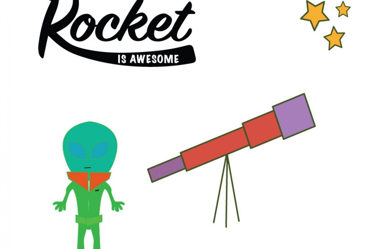 My lil Alien Rocket That Could - student project
