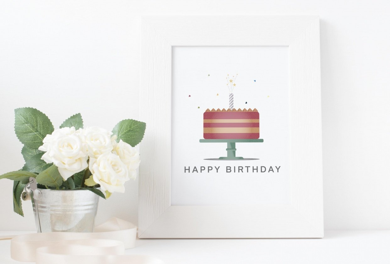 Happy Birthday Greeting Card - student project