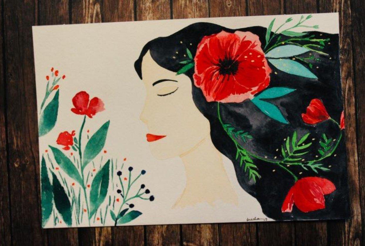 Flower portrait - student project