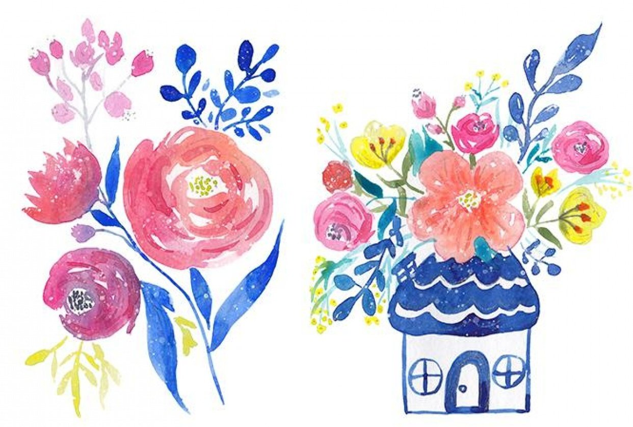 Watercolor Cards - student project