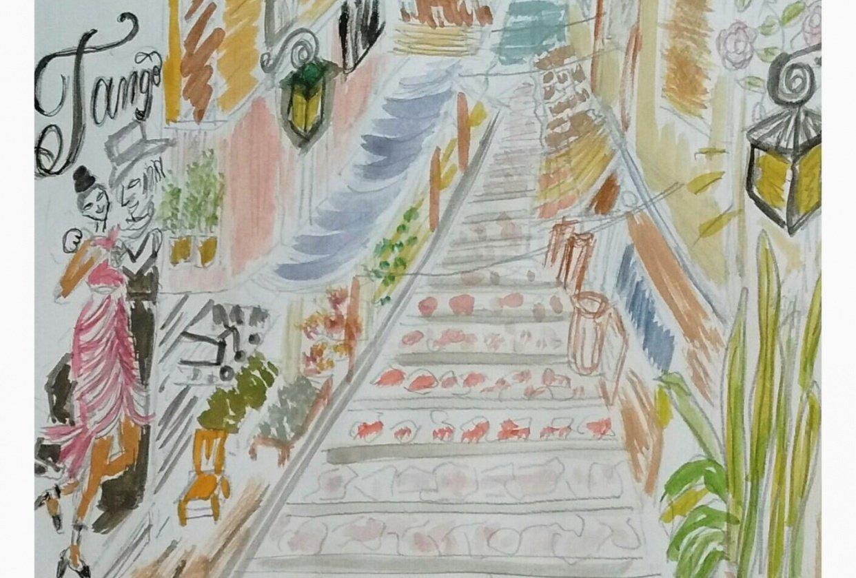 Urban Sketch & Tango - student project